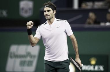 Roger Federer celebrando un punto  Foto: Zimbio