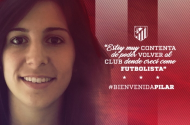 Pilar García retorna al club que le vió nacer / Foto: ATM