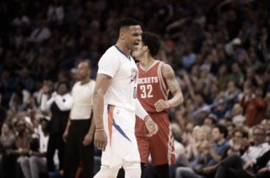Resumen NBA: Westbrook y los Thunder superan a los Rockets