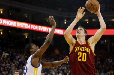 Mozgov was dealt to Cleveland in a big mid-season trade, the Cavs were willing to give up 2 first-round picks for the Russian big man. (Photo via USA TODAY Sports)