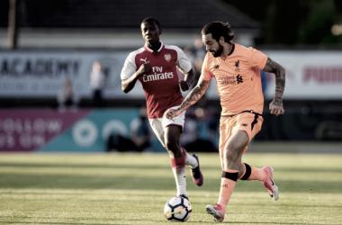 Danny Ings jugando contra el Arsenal sub-23 (Danny Ings twitter)