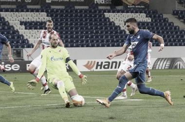 Hoffenheim derruba invencibilidade de 15 jogos do Estrela Vermelha e lidera grupo na Europa League