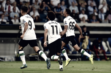 Alexander-Arnold esulta dopo il gol. Fonte: https://twitter.com/lfc