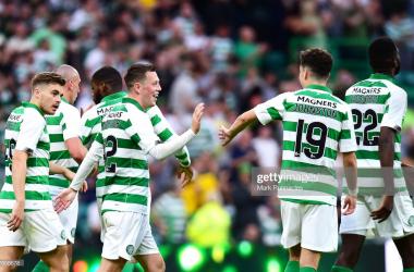 Celtic 5 - 0 Nomme Kalju: Five-star Hoops romp to first-leg victory