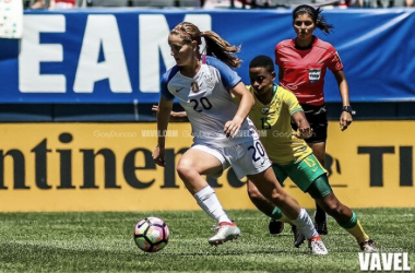 Lindsey Horan in action against South Africa | Source: Gary Duncan - VAVEL USA