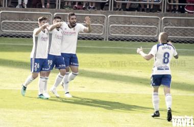 El Real Zaragoza tiene cita el próximo miércoles en Soria. | Foto: Andrea Royo, (VAVEL)