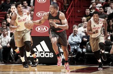 Dwight Howard en un partido de los Atlanta Hawks. Fuente: NBA.com
