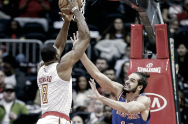 Atlanta Hawks' Dwight Howard had a big game against the New York Knicks. Photo Erik S. Lesser/EPA