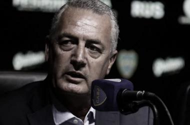 Gustavo Alfaro en conferencia de prensa (foto: TN)