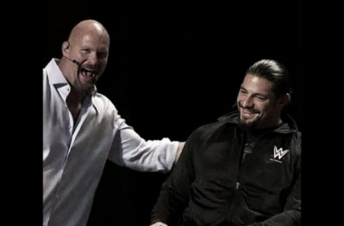 Stone Cold feels that Roman Reigns will bounce back from his suspension (image:cagesideseats.com)