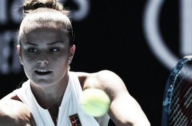 Sakkari não vencia um jogo de torneio WTA desde setembro, em Seul (Foto: Divulgação/WTA)