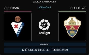 Eibar vs Elche EN VIVO y en directo online en LaLiga Santander 2020
