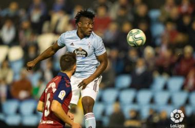 Aidoo en el partido contra el Huesca | Fuente: LaLiga