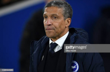 Chris Hughton on the sideline image courtesy of Mike Hewitt on Getty Images.