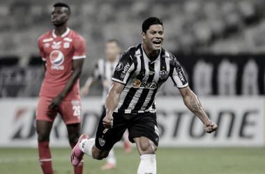 Hulk marcou dois gols para o Atlético-MG (Foto: Divulgação/Conmebol)