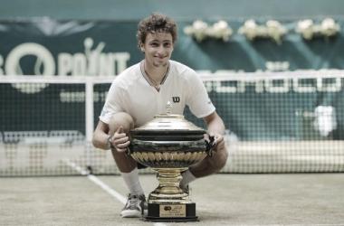 Ugo Humbert venceu Andrey Rublev no ATP 500 de Halle 2021 (ATP / Divulgação)