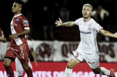 Damonte anotó su segundo gol en Huracán | Foto: Ida y Vuelta.