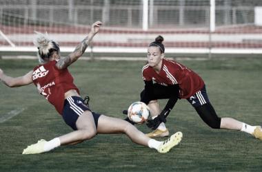 España prepara en La Ciudad del Fútbol de las Rozas el partido contra Polonia. Foto: RFEF