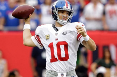 Eli Manning throws against the Buccaneers. Photo by Chris O'Meara, AP.