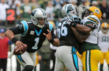 Cam Newton has been the key to Carolina's hot start. Photo by Chuck Burton, AP.