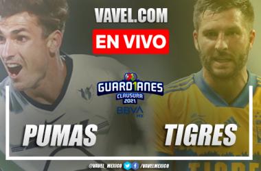 Pumas UNAM 0-0 Tigres en Jornada 15 de la Liga MX Guard1anes 2021