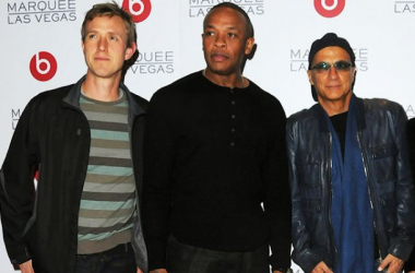 Ian Rogers, Dr. Dre, and Jimmy Iovine at Consumer Electronic Show afterparty. Photo: billboard.com