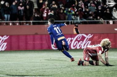 Ibai Gómez después del tercer gol alavesista. Fotografía: Deportivo Alavés