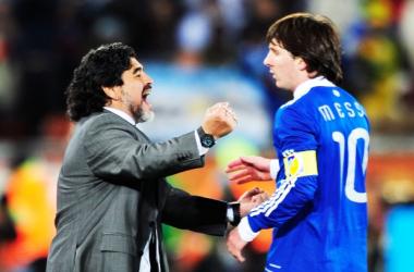 Messi iguala os 345 gols de Maradona