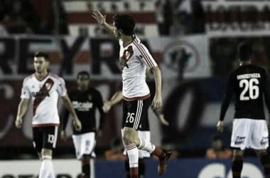 """Nacho"" Fernández marcó el primer gol en el 4-2 sobre Melgar. (Foto: AMP)."