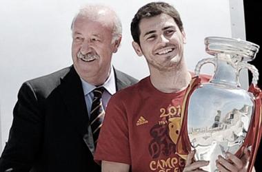 El reencuentro de Iker Casillas y Vicente del Bosque