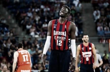 Ilimane Diop se lamenta de una acción del partido   ACB Photo