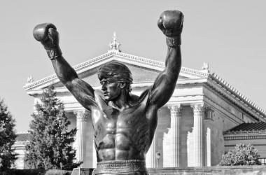 La famosa estatua de Rocky en Philadelphia. Foto: Brandon Seals