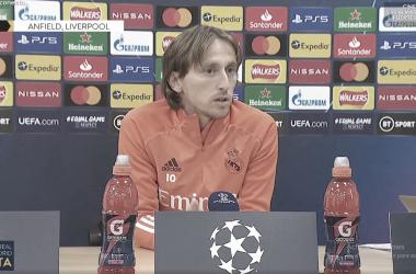 Foto: Luka Modric en rueda de prensa/ Real Madrid