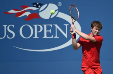 Stefan Kozlov in action on day two of qualifying for the 2015 U.S. Open. (Photo: USTA)