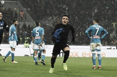 Napoli tem dois expulsos, Lautaro Martinez marca no fim e Inter vence em Milão