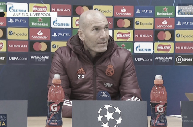 Foto: Zinedine Zidane en rueda de prensa/ Real Madrid