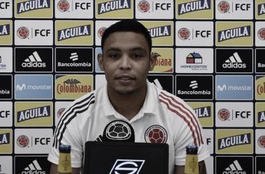 Luis Fernando Muriel en rueda de prensa
