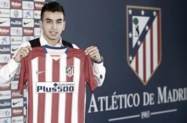 Ángel Correa en su presentación | Foto: Atlético de Madrid