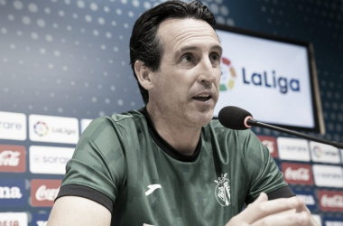 Unai Emery en rueda de prensa / Foto: Villarreal CF