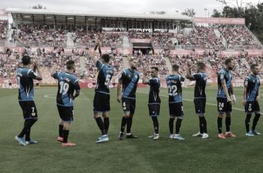 Once inicial antes del comienzo del encuentro contra el Girona. / Fotografía: Rayo Vallecano.