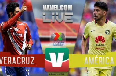 Resultado VeracruzvsAmérica en Liga MX 2016 (1-1)