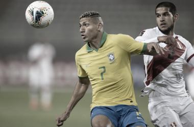 Autor de gol contra Peru, Richarlison admite esforço dobrado após lesão