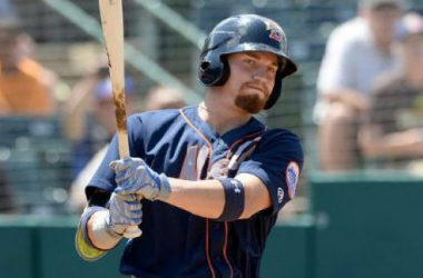Even though the injury bug kept Brandon Nimmo from continuing a seven-game hit streak, he has hit the ball very well since returning from the DL. Photo courtesy of Kevin Pataky of MiLB.com.