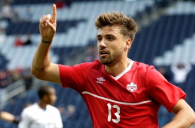 Michael Petrasso scored his third goal of the tournament on Tuesday against Cuba at Dick's Sporting Goods Park. (Photo provided by Charlie Riedel- AP Photo.)