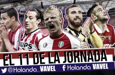 Once ideal de la 14ª jornada de la Eredivisie | Fotomontaje: Alejandro Mateos