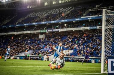 Actualmente la portería del Espanyol no tiene a un hombre fijo.| Foto: Perico Domínguez