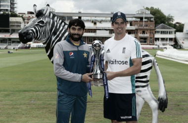 England and Pakistan get their Test series underway at Lord's on Thursday (image via: InvestecCricketTwitter)