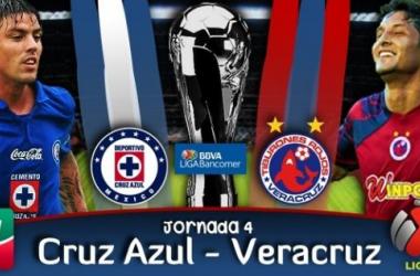 Resultado Cruz Azul - Veracruz en Liga MX 2014 (4-0)