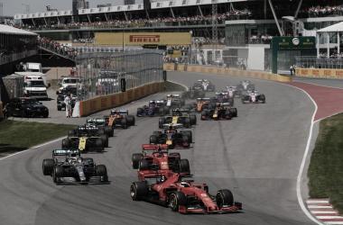 Sebastian Vettel fez uma boa corrida, mas não conseguiu evitar a quinta vitória de Hamilton. (Reprodução formula1.com)