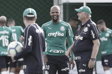 Palmeiras faz último treino para amistoso. (Foto: Cesar Greco/Ag Palmeiras/Divulgação)